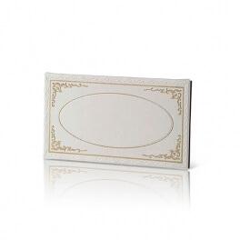 door sign Leatherette p.u Gold Stamp